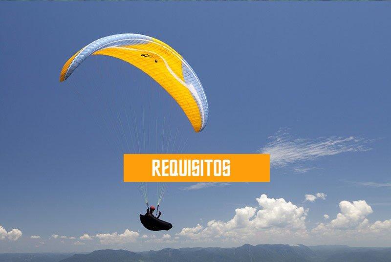 requisitos para voar de parapente paraglider voo duplo saltar voar escola
